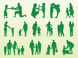 Kids-And-Parents-Silhouettes